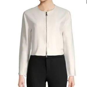 MAX MARA Caraibi Ruched Jacket in Ivory Size 8 NWT